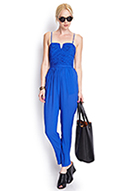 Textured Cutout Jumpsuit | FOREVER21 - 2000126371
