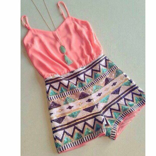 Pink sequined playsuit presale by feclothing