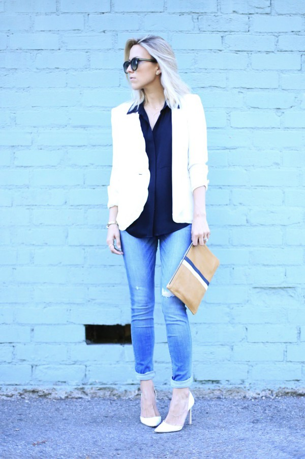 damsel in dior jeans shoes jacket jewels bag blouse sunglasses mid heel pumps