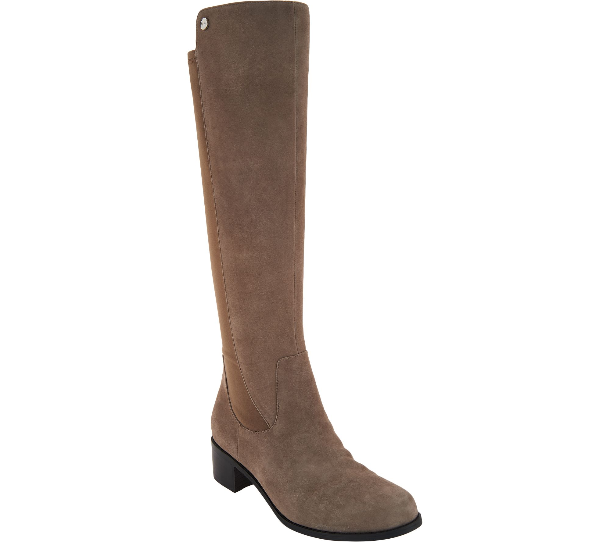Marc Fisher Wide Calf Leather Tall Shaft Boots - Incept — QVC.com