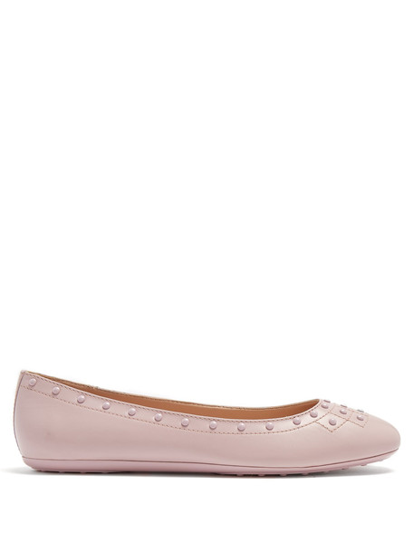 studded ballet flats leather flats leather light pink light pink shoes