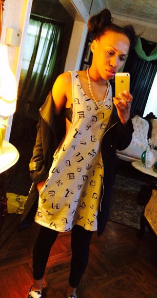leggings dress l.a. style l.a. new york new york city ponytail cute dress sport sporty jacket gold necklace statement necklace black dope dope as f*** cute fashion chill vibe india love rihanna miley cyrus comfortable converse ootd