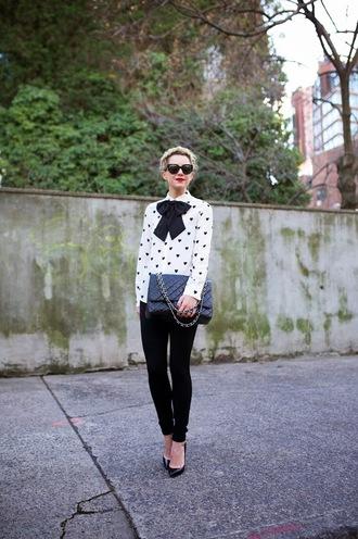 atlantic pacific blogger sunglasses heart bows black jeans top pants shoes