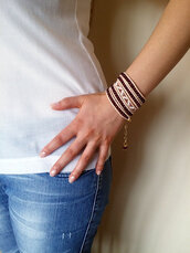 jewels,wrap bracelet,boho bracelet,beaded bracelet,spring summer 2015,women jewelry,gift ideas,handmade bracelet,gypsy  bracelet,etsy shop,marsala leather pants,burgundy beads