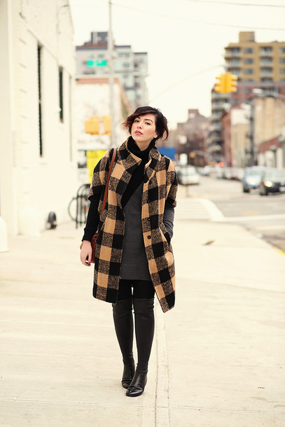 keiko lynn blogger coat dress shoes bag