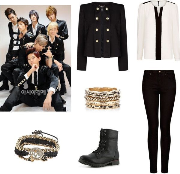 Jacket Jeans Shirt Blouse Korean Fashion Korean Style Black Coat Cool Style White