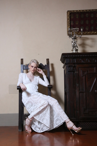 dress temperley london designer high end luxury white dress italy firenze4ever new season spring outfits spring look lace fashion blogger blogger jessica magazine 2016 trends