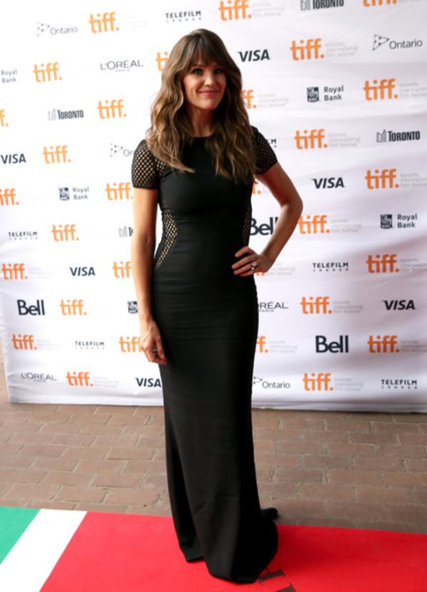 dress Jennifer Garner black maxi dress