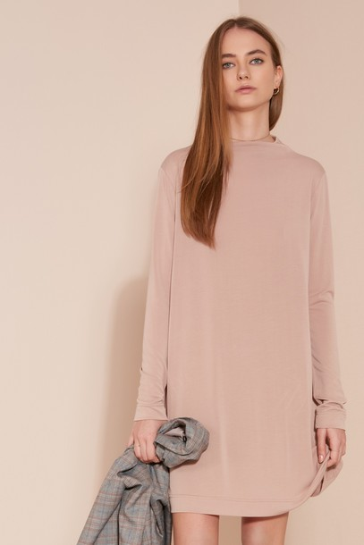 The fifth dress long sleeve dress long pink