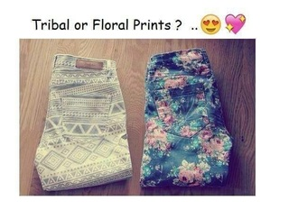 jeans floral pants tumblr
