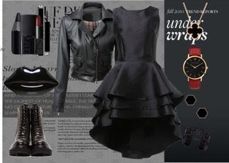 dress black dress high low dress