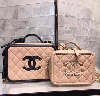 bag leather pink black chanel light pink quilted bag chanel bag