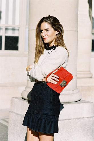 vanessa jackman blogger sweater skirt