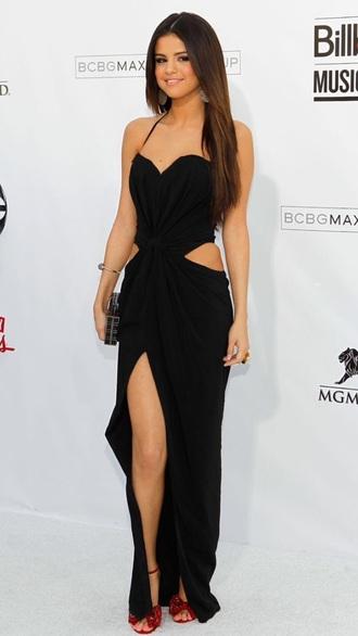 selena gomez cut-out dress
