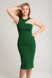 dress,cute,women,bodycon dress,pencil skirt,pencil dress,bodycon skirt,lovely,green dress,green,cut-out dress,cut-out,stylish,style me,emerald green,olive green,cut out bodycon dress,Shear bodycon dresses,plus size dress