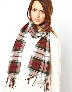 Johnstons | Johnstons Lambswool Plaid Scarf at ASOS