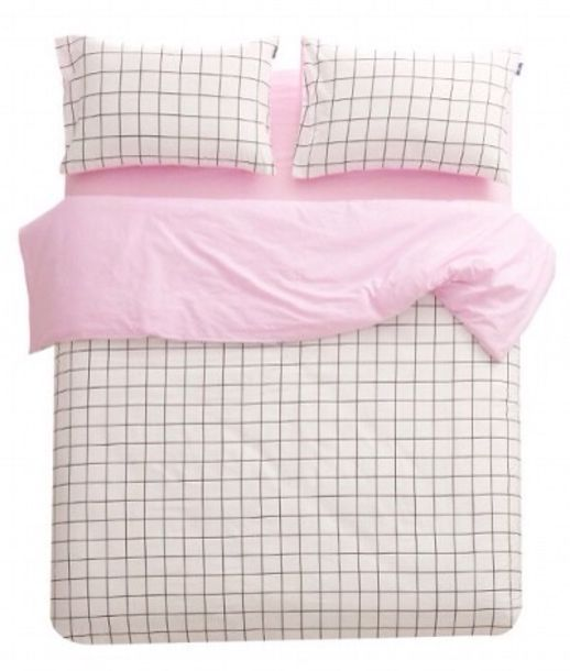 Pastel Pink Blanket Black And White Bedding Checkered