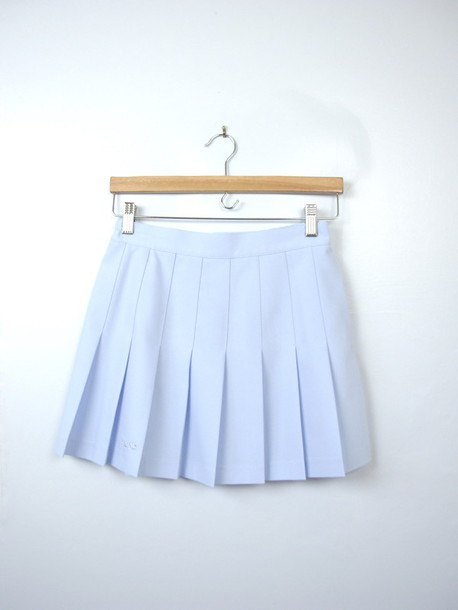 Skirt: tennis skirt, blue skirt, blue, light blue, pastel, pastel ...