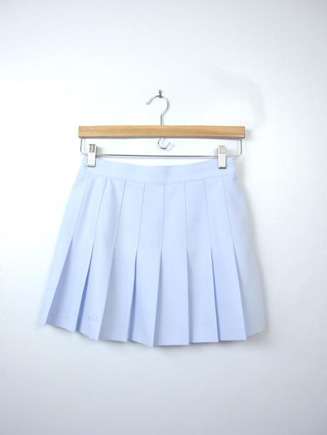 e190add72e skirt, tennis skirt, blue skirt, blue, light blue, pastel, pastel ...