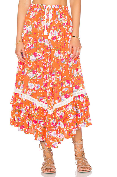 56b3d99a5 Spell & The Gypsy Collective Revolver Kerchief Skirt in coral ...