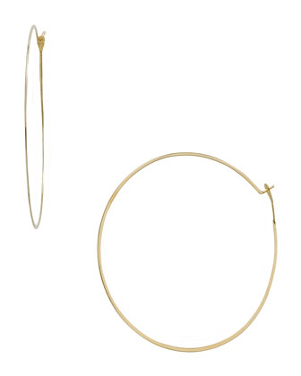Michael Kors  Whisper Medium Hoop Earrings, Golden - Neiman Marcus