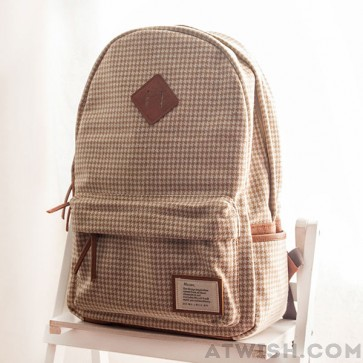 Casual plaid pattern schoolbags backpacks from crossbody bags