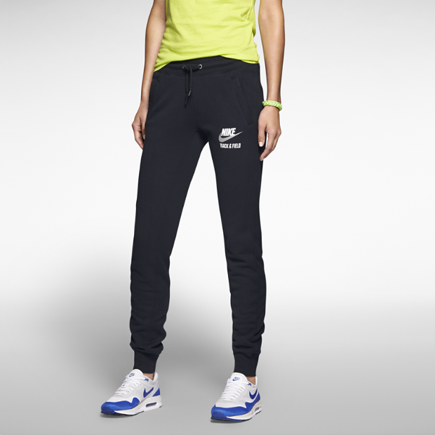 The nike track and field cuffed women's pants.