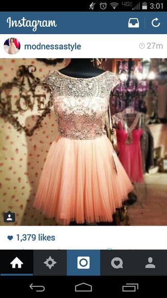 peach apricot glitter dress glitter peach dress