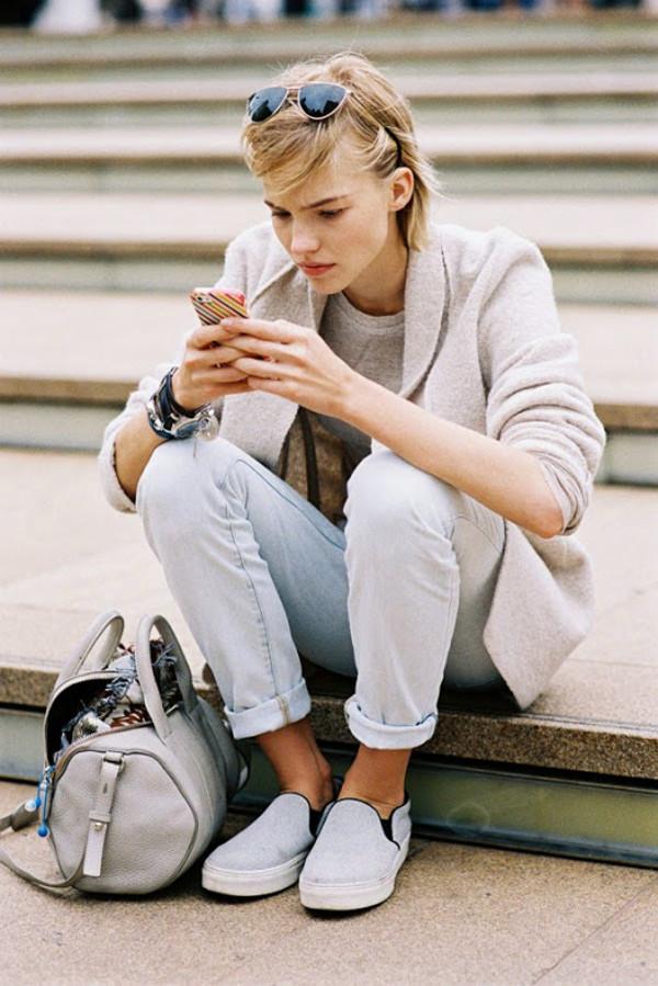 vanessa jackman blogger jeans cardigan bag