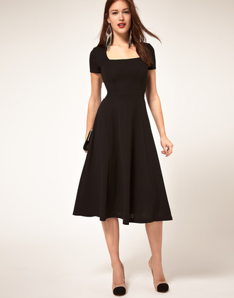 dress black retro black dress 60s style