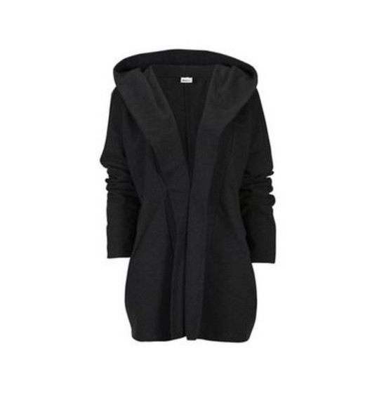 coat hood black sleeves