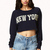 New York Cropped Sweatshirt | FOREVER 21 - 2000075374