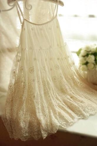 dress lace dress cream dress cute dress summer dress