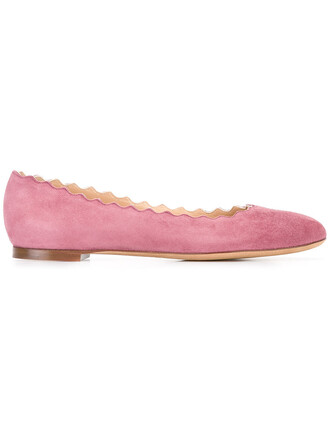 women leather suede purple pink shoes
