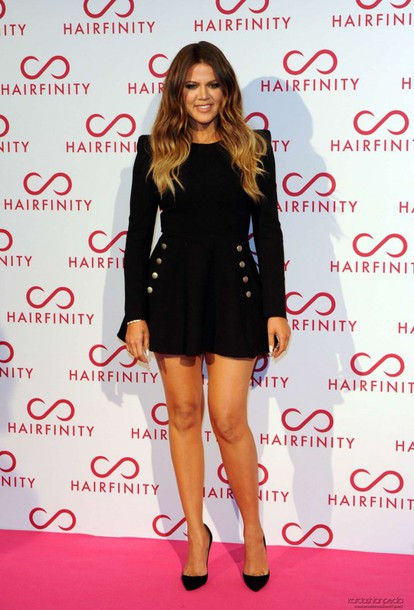 Dress Little Black Dress Khloe Kardashian Shoes High Heels
