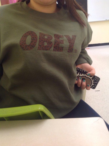 sweater obey green