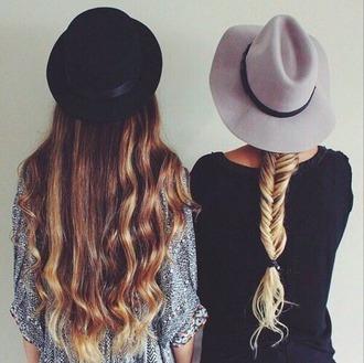 hat black grey friends hair accessories