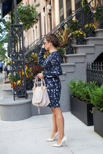 the corporate catwalk blogger dress sunglasses shoes bag jewels make-up