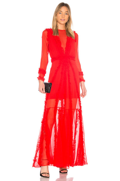 Alexis gown sheer red dress