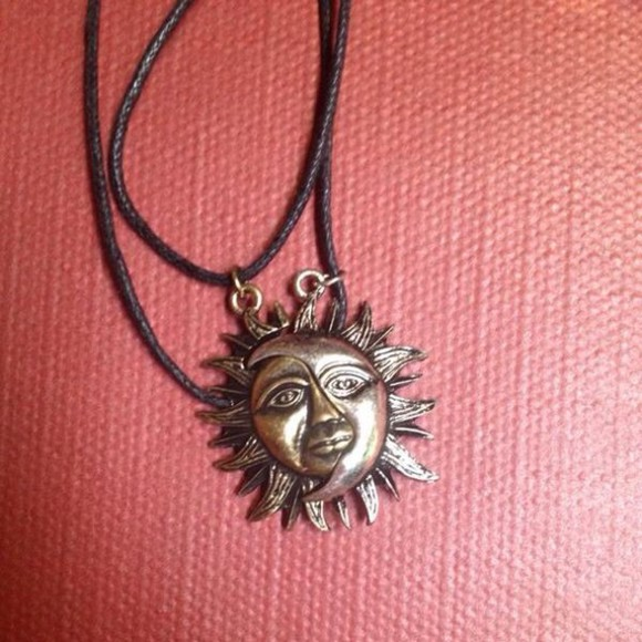 hippie jewels necklace sun moon necklaces for 2