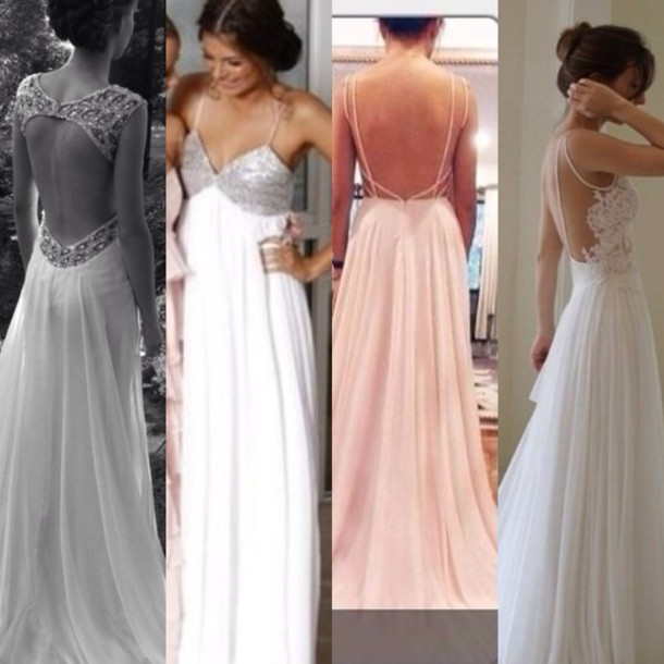dress prom lace backless pastel pink white vintage long dress edit ...