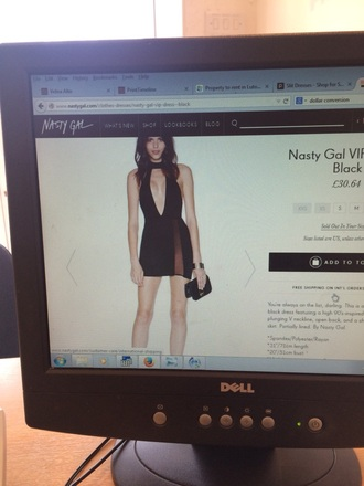 dress nastygal party outfits little black dress cut-out dress style