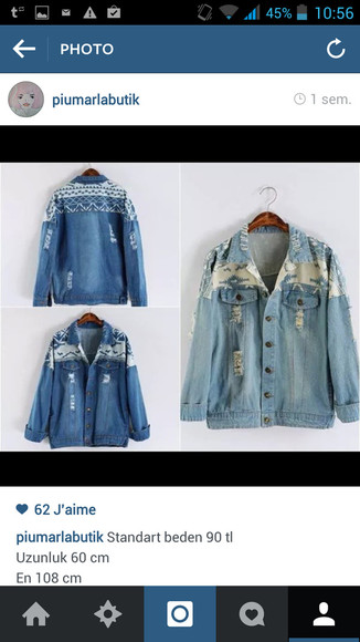 jeans jacket motif