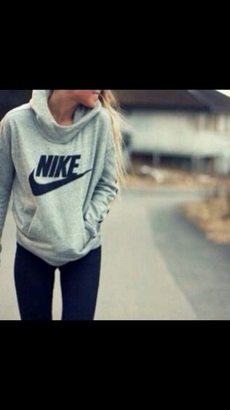 sweater grey nike hoodie sportswear
