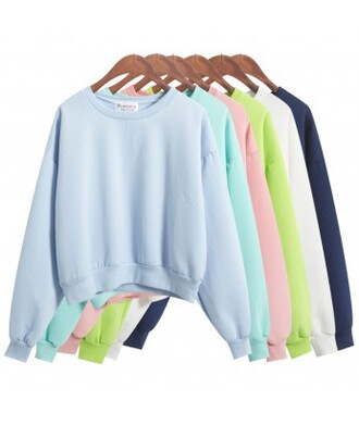 sweater it girl shop baby blue green pastel pink pastel whie all colors winter outfits