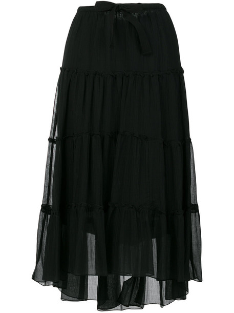 See by Chloe skirt midi skirt women midi cotton black silk