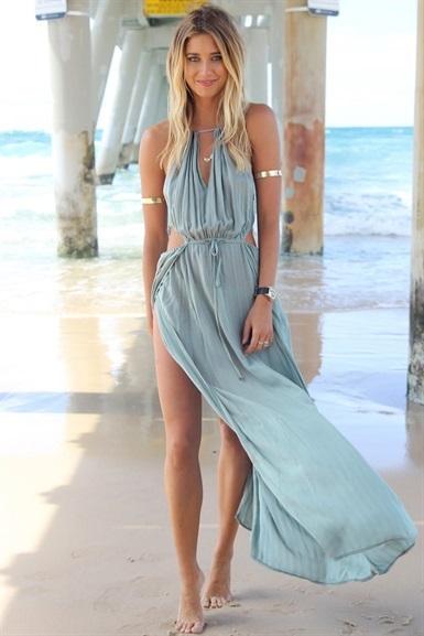 Благодаря шнурок Крепление под бюстом Irresistible Хаки Макси платье летом милые платья LQ4479, принадлежащий категории Платья и относящийся к Одежда и аксессуары на сайте AliExpress.com