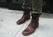 shoes,laced boots,boots,brown leather boots,brown,leather,menswear,mens shoes