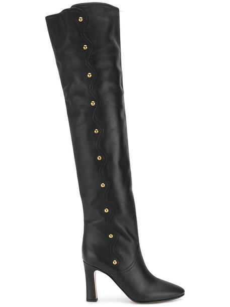 women leather black shoes