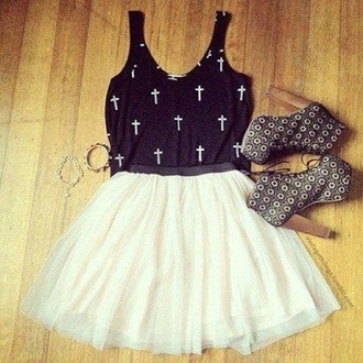 lita jeffrey campbell shoes skirt top white black clothes tank top cross style summer outfits high heels bracelets platform shoes lita platform boot crop tops dress